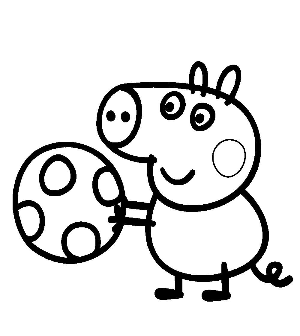 1000x1123 Play Ball Peppa Pig Coloring Pages 30729,