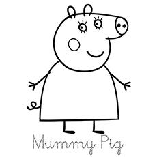 230x230 Top 15 Free Printable Peppa Pig Coloring Pages Online