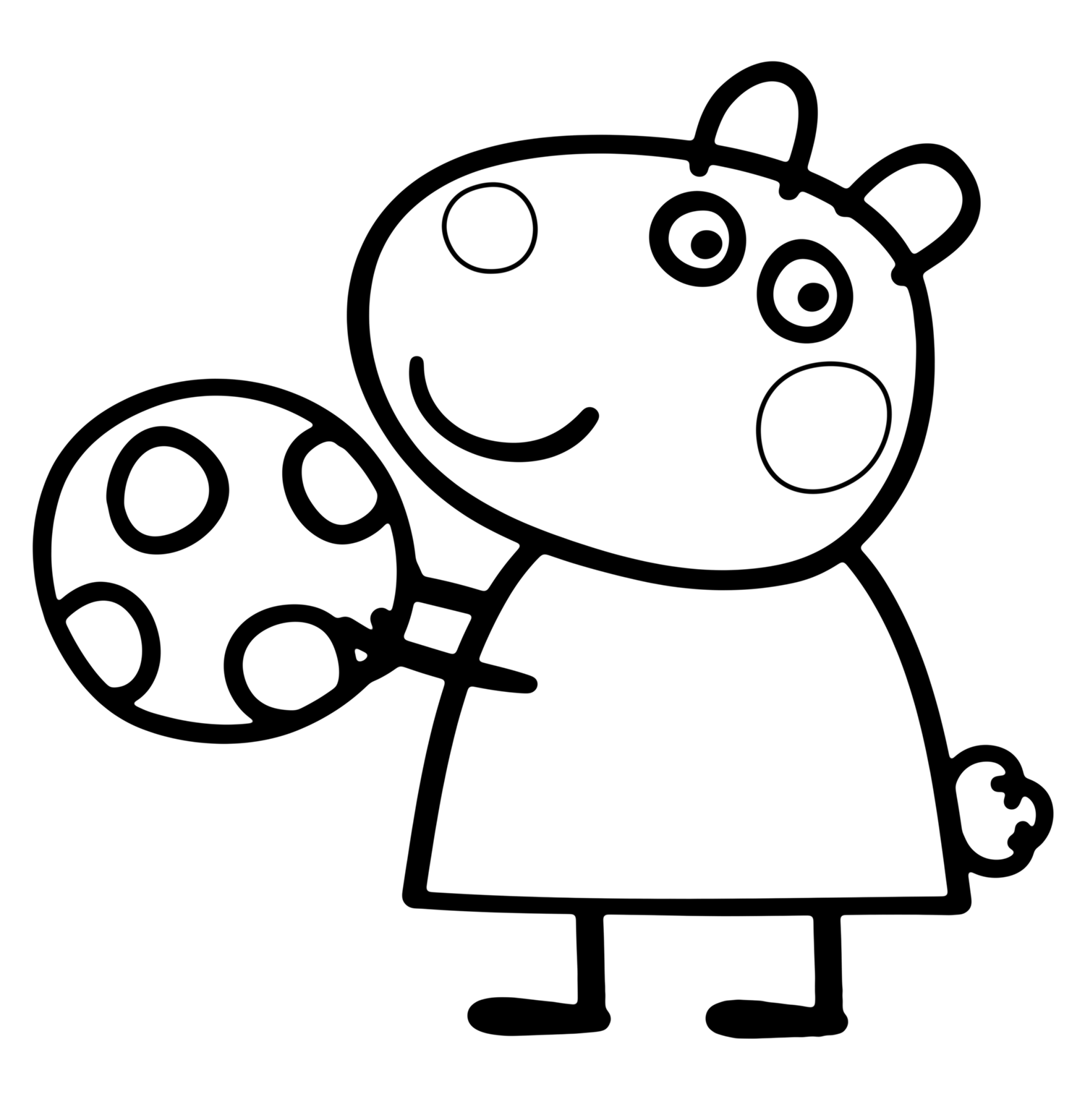 1500x1549 Beautiful Suzy Sheep Peppa Pig Coloring Pages With Peppa Pig