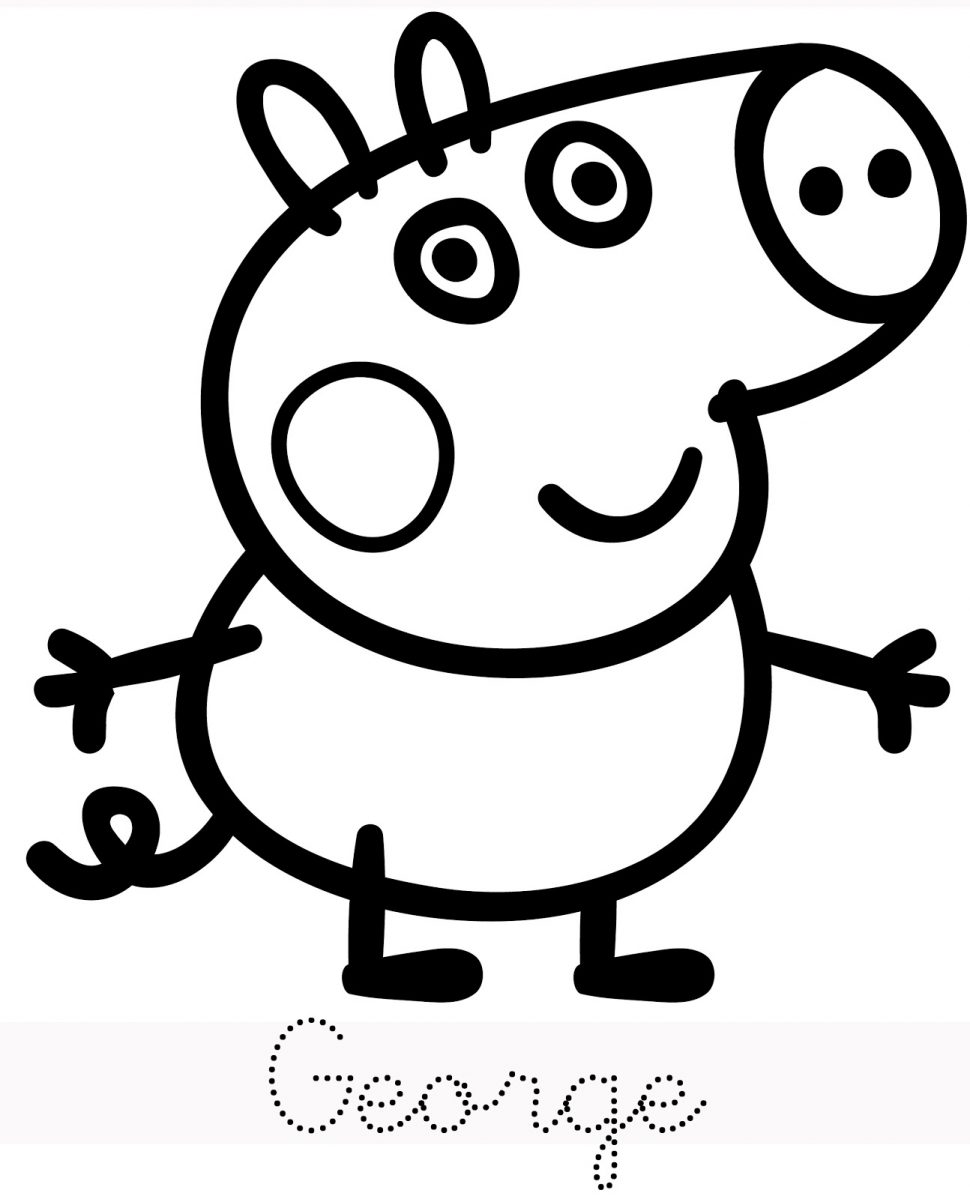 970x1199 Coloring Marvelous Peppa Pig Colouring Picture Inspirations