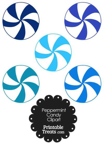 400x550 Blue And White Peppermint Candy Clipart Printable Treats