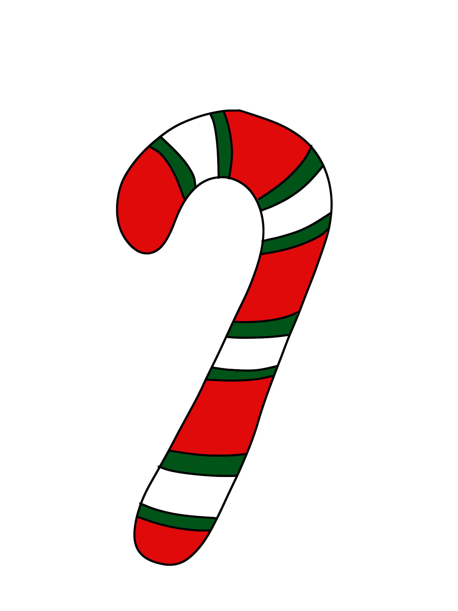 1536x2048 Candy Cane Clipart Green