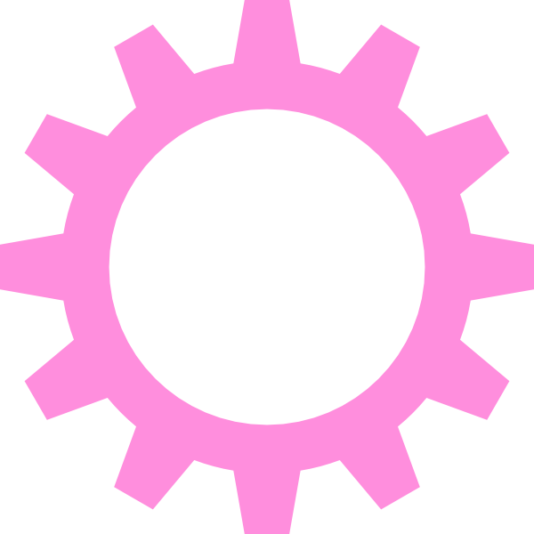 600x600 Light Pink Cogwheel Clip Art