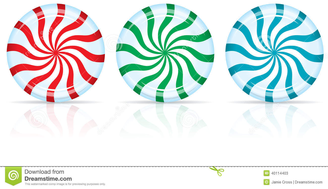 1300x747 Red And Green Peppermint Candy Clipart