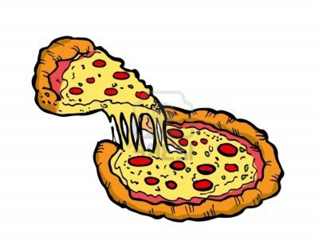 1280x1014 Pepperoni Pizza Clipart