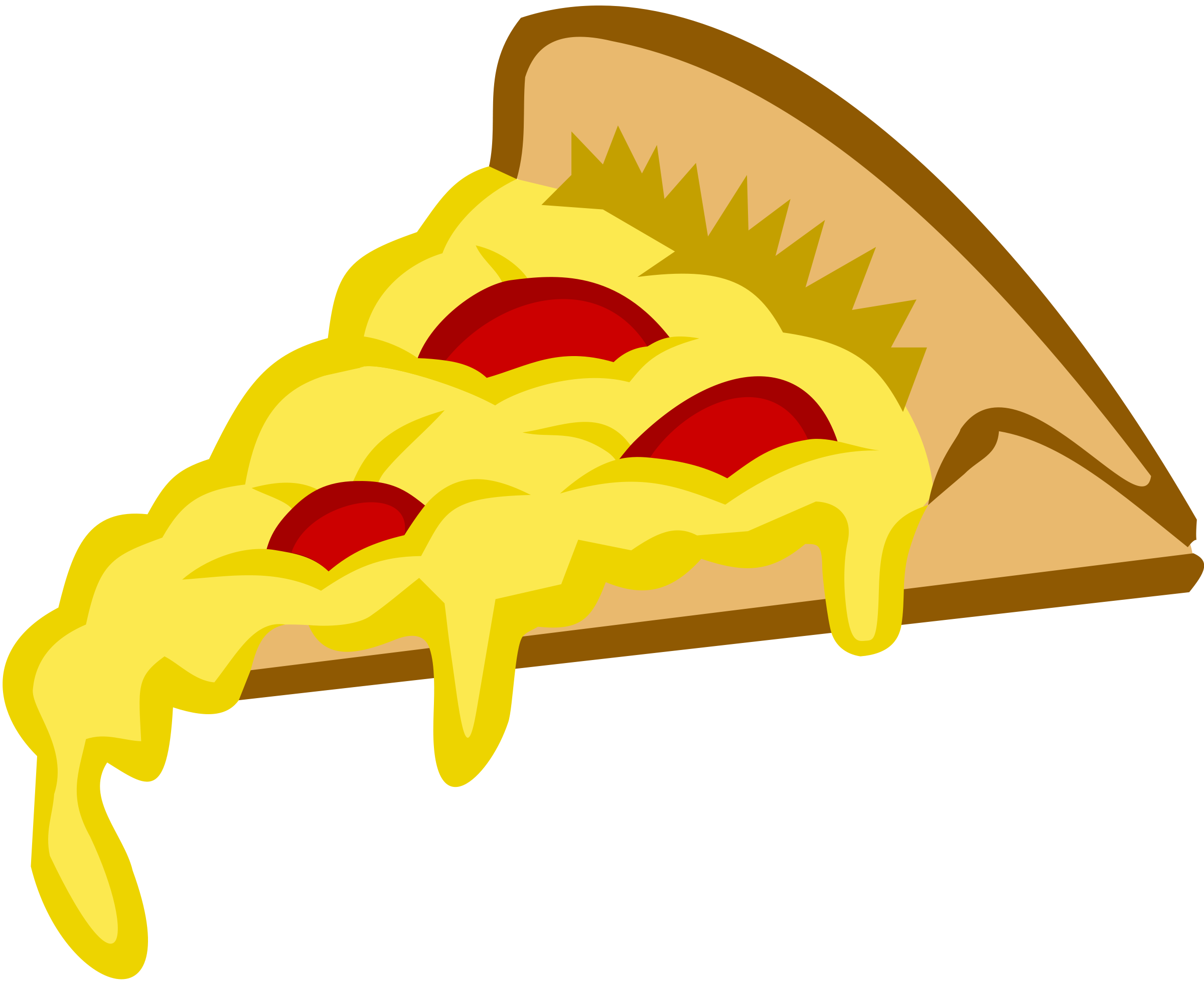 2400x1958 Pepperoni Pizza Clipart