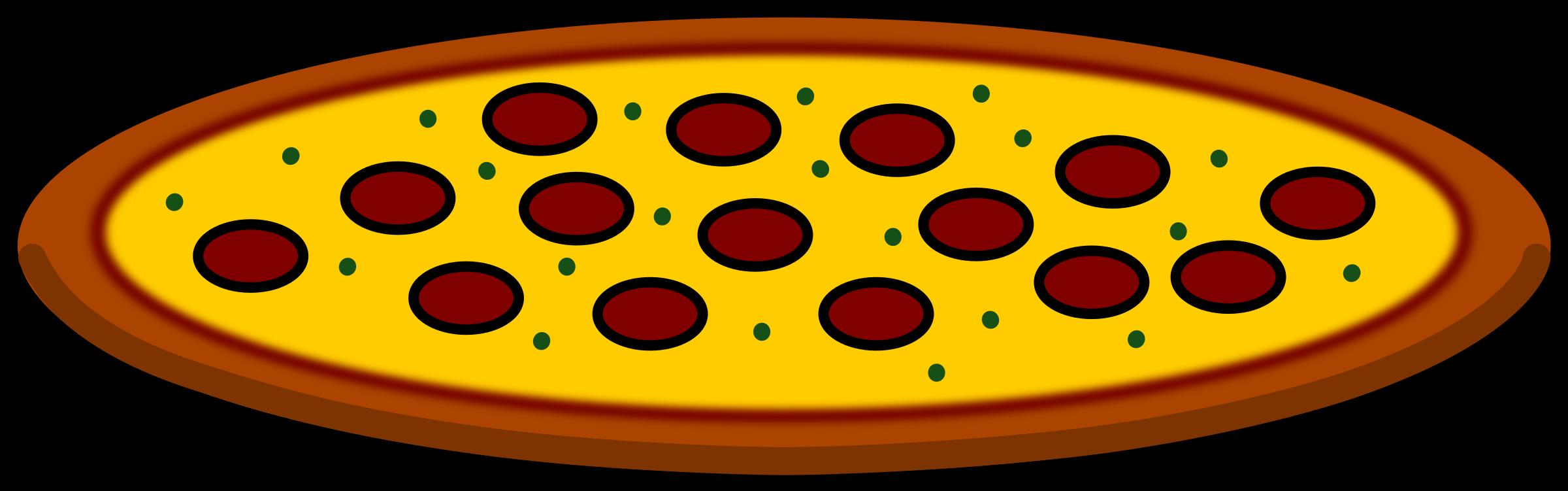 2400x751 Pepperoni Pizza Slice Clip Art