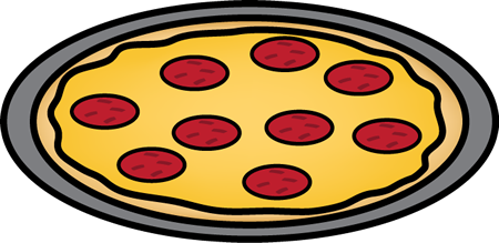 450x219 Pepperoni Pizza On A Pan Clip Art