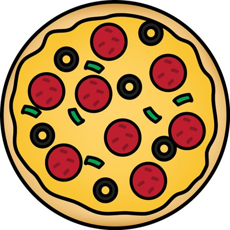 Pepperoni Pizza Clipart