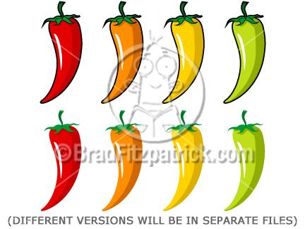 432x324 Cartoon Chili Pepper Clip Art Chili Pepper Clipart Graphics
