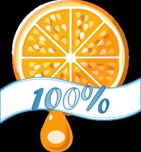 276x297 100 Percent Orange Juice Clip Art