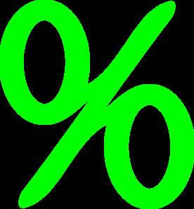 276x298 Green Percent Clip Art
