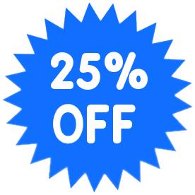 276x276 Percent Off Blue Clip Art Download