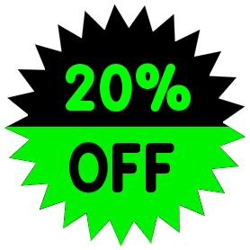 278x278 Percent Off Green Clip Art Download