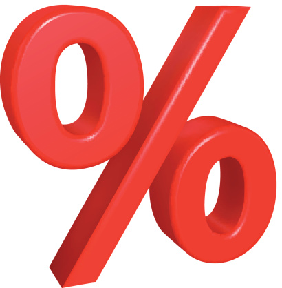 410x418 Percent Sign Clipart