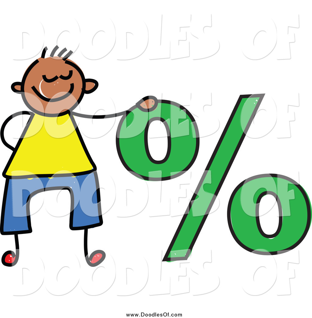 1024x1044 Vector Clipart Of A Doodled Boy By A Percentage Symbol By Prawny