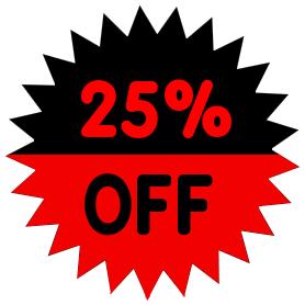 278x278 25 Percent Off Red Clip Art Download