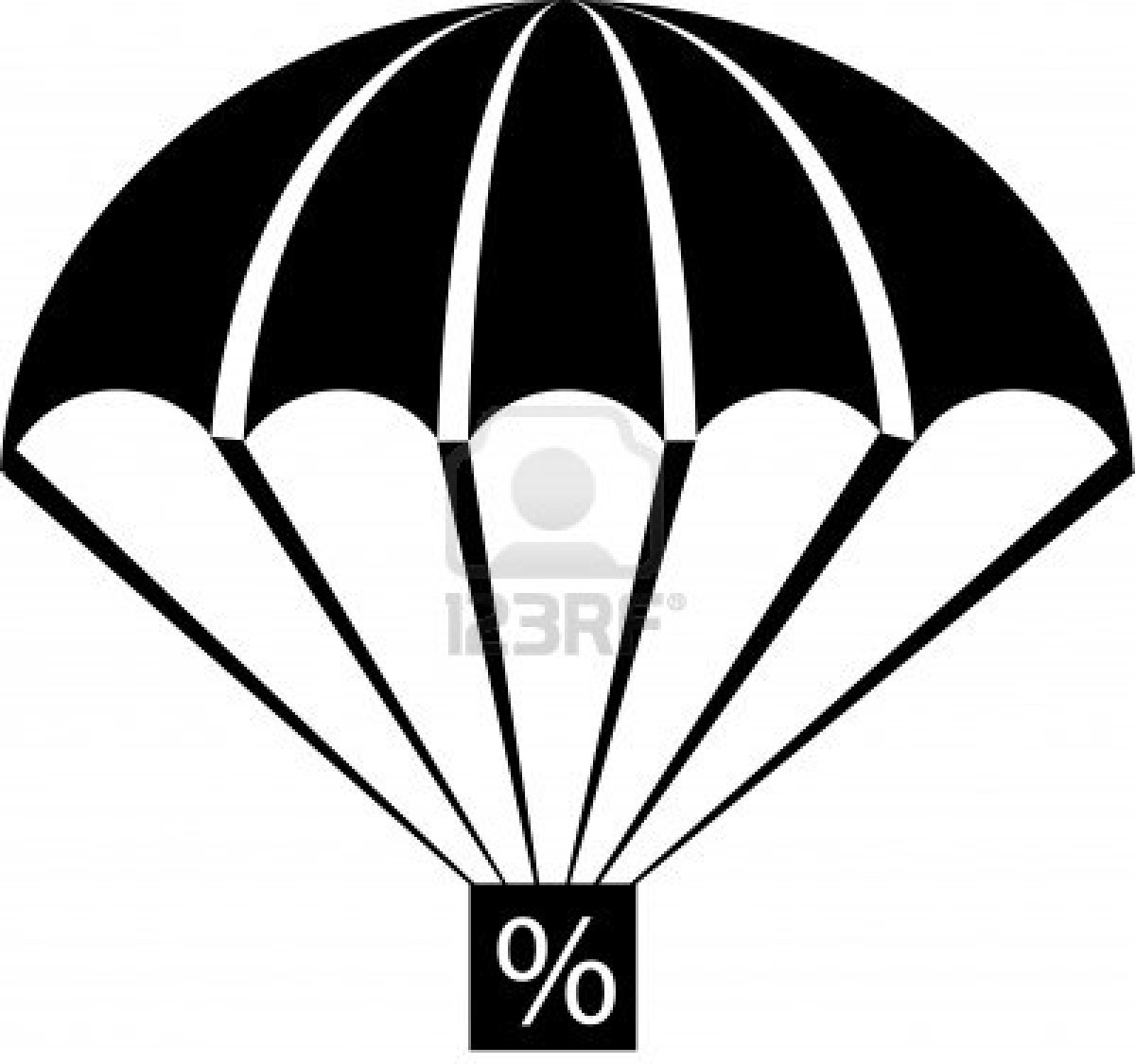 1200x1125 An Illustration With Parachute Percent Free Images