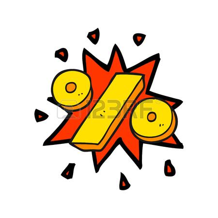 450x450 Freehand Drawn Cartoon Percentage Symbol Royalty Free Cliparts