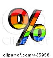 175x190 Royalty Free (Rf) Clipart Illustration Of A 3d Rainbow Symbol