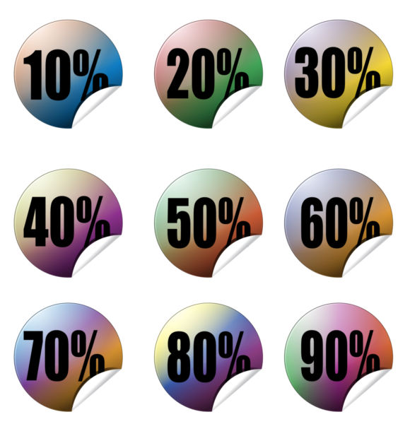 580x600 Vector Art Percentage Icon Buttons