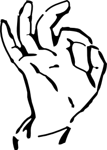 213x296 Hand A Ok Clip Art