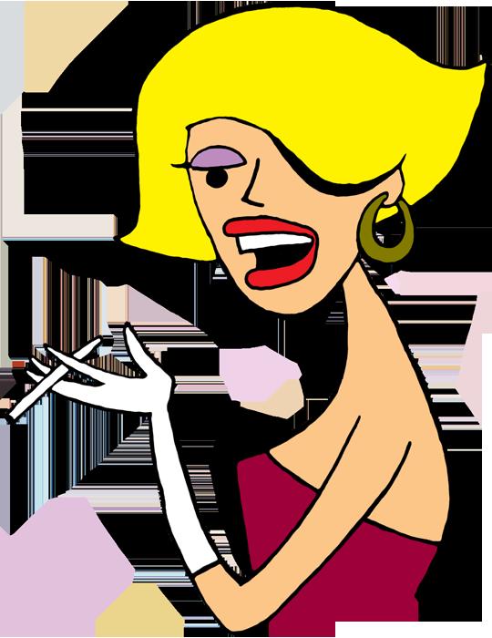 540x700 Blonde Girl Clipart
