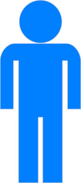 264x593 Blue Man Clipart Clip Art