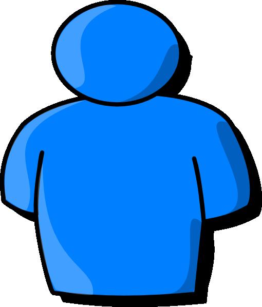 510x598 Blue Person Clip Art