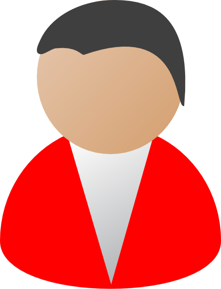 456x595 Business Person Red Clip Art