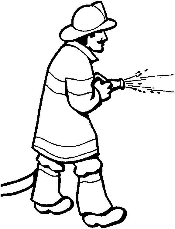 576x756 Cartoon Fireman Clip Art Clipart Image