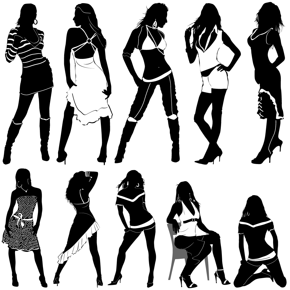 1098x1098 People Clip Art Black And White