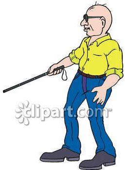 263x350 Blind Man Using A Cane Clip Art