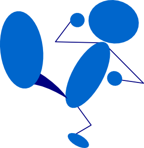 291x298 Blueman Kicking Clip Art Free Vector 4vector