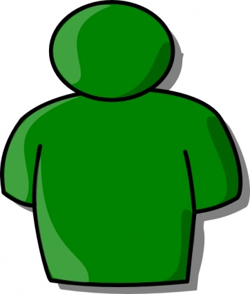 362x425 People Clipart Green