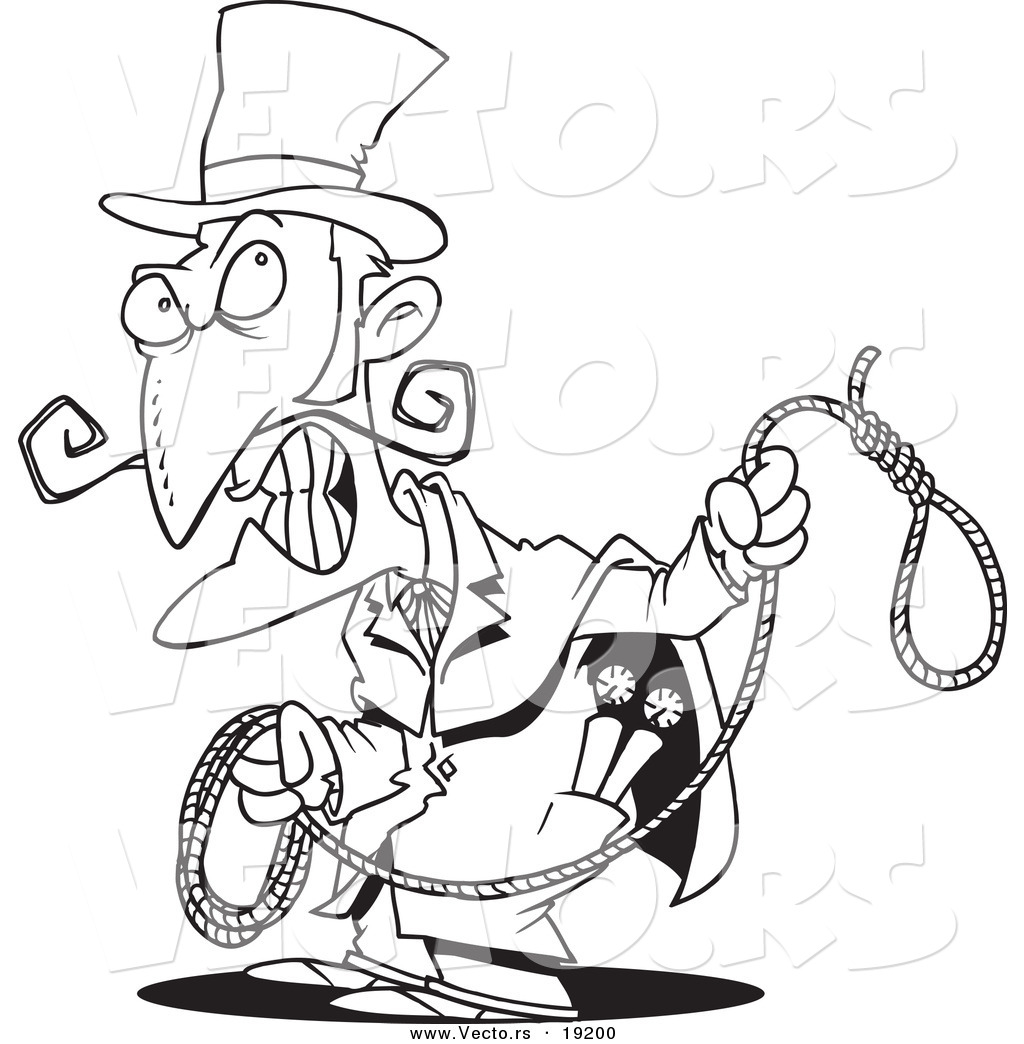 1024x1044 Vector Of A Cartoon Evil Man With A Noose