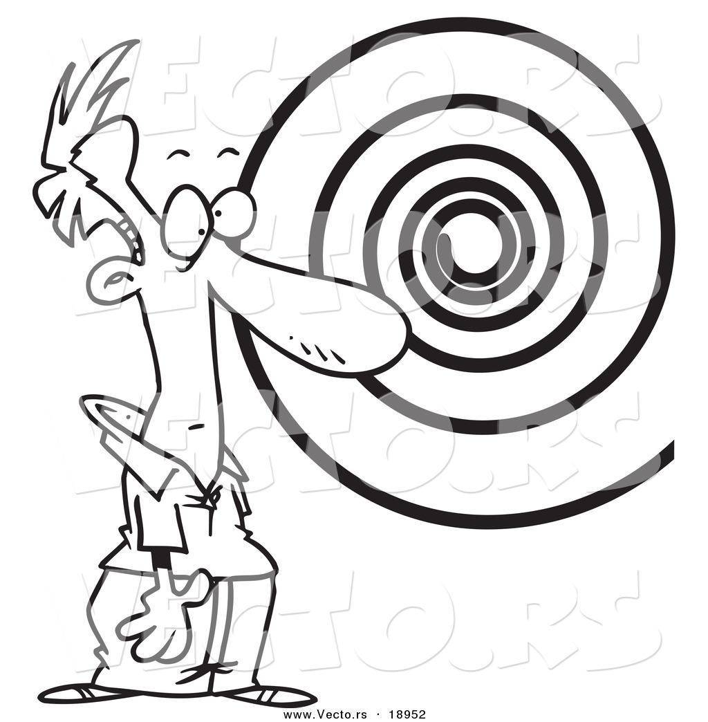 1024x1044 Vector Of A Cartoon Hypnotized Man Staring
