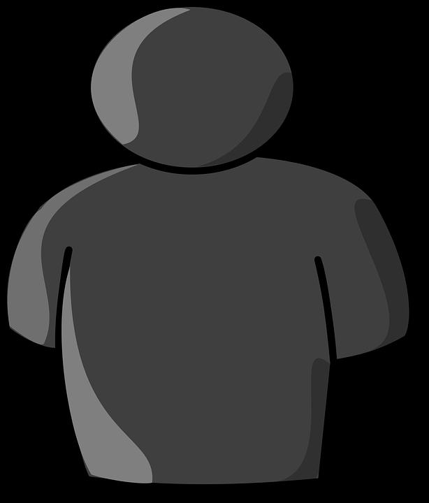 614x720 Grey Clipart Person