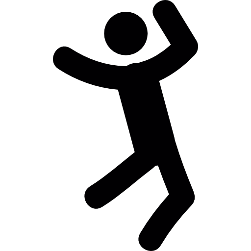 512x512 Happy Person People Happy Happiness Stick Man Jumping Jump Icon