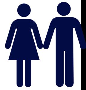 288x300 Man And Woman (Heterosexual) Icon Clip Art