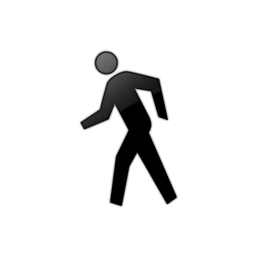 512x512 Person Walking Clipart