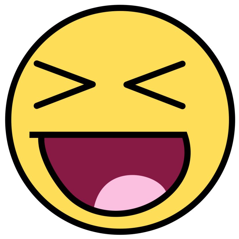 830x830 Clipart Laughing Face Clipartfest