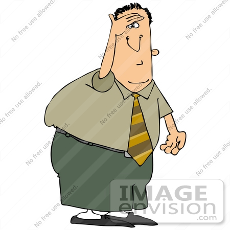450x450 Clip Art Graphic Of A Businessman On The Look Out