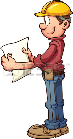 237x450 Construction Worker Having A Lunch Break Vector Clip Art