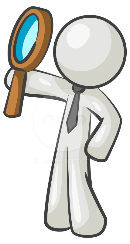 428x800 Person With Magnifying Glass Clipart