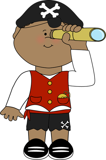 364x550 Pirate Looking Out Of Telescope Clip Art
