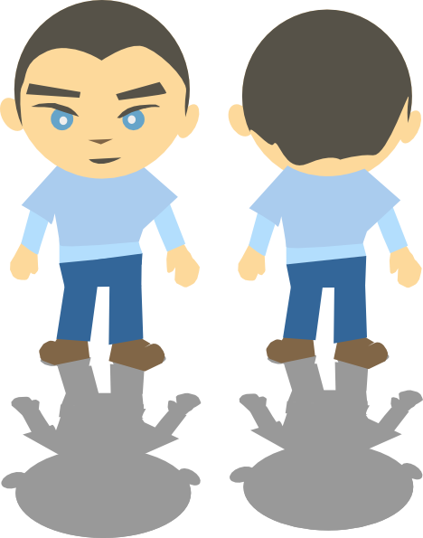 468x595 Rear Clipart Boy Looking
