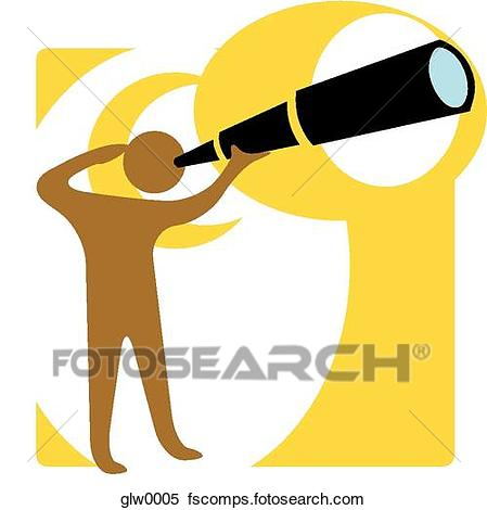 449x470 Stock Illustration Of Person Looking Through A Telescope Glw0005