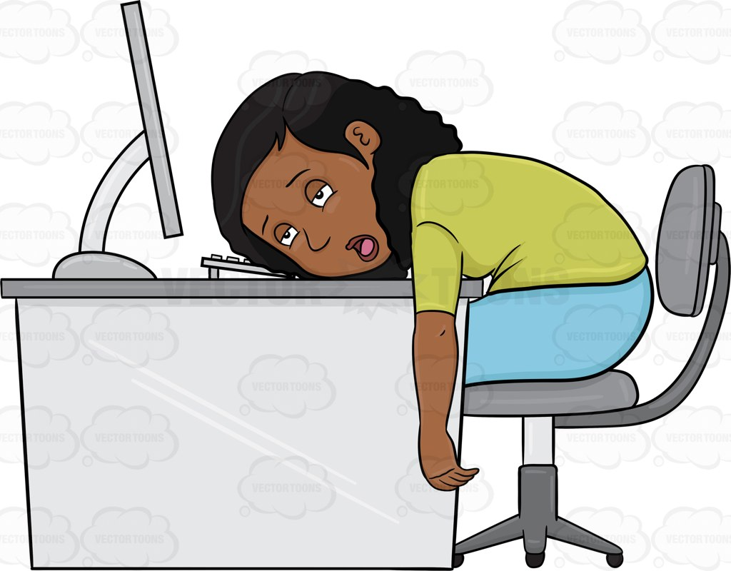 Person On Computer Clipart