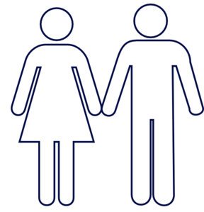 288x299 Man And Woman (Heterosexual) Icon Clip Art